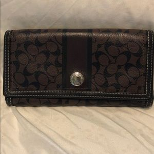Authentic COACH signature wallet